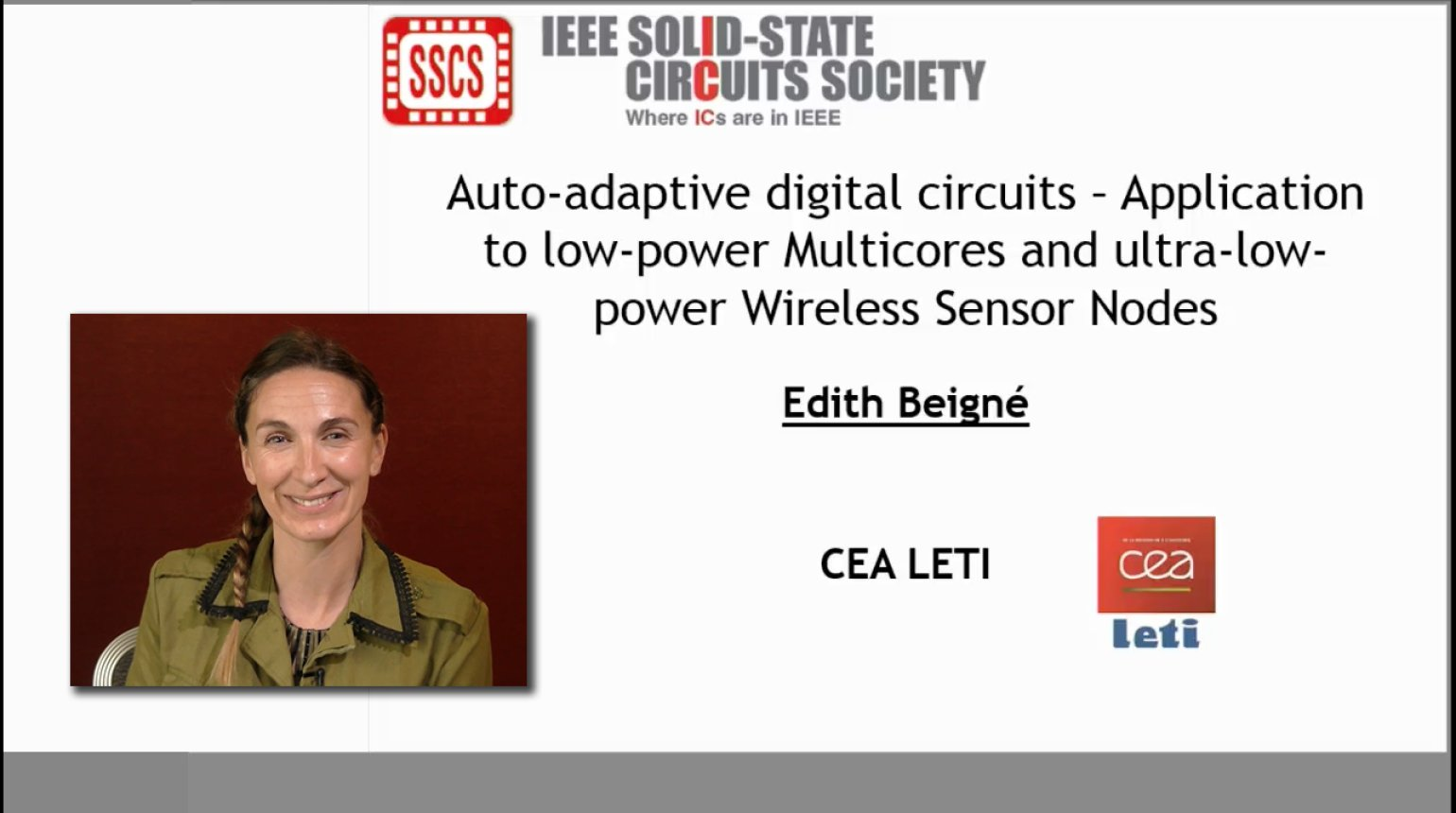 Auto-adaptive digital circuits -Application to low-power Multicores and ultra-low-power Wireless Sensor Nodes Video