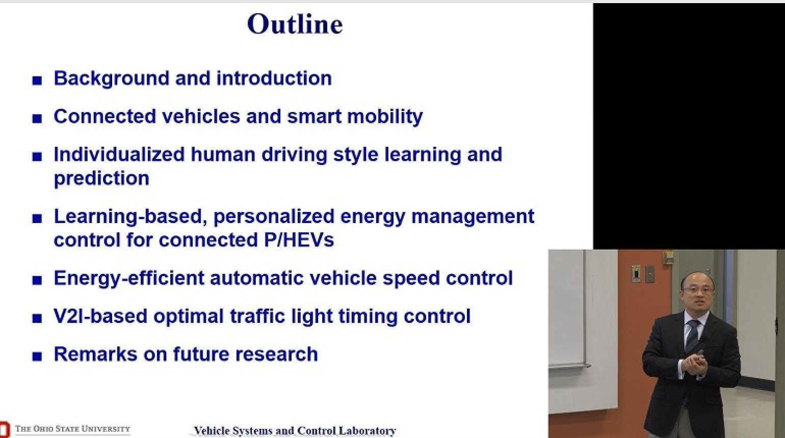 Video - Energy Efficiency Enhancement for Personalized and Connected Vehicles