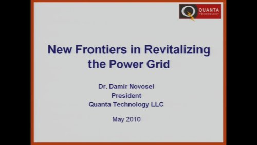 New Frontiers in Revitalizing the Power Grid (Video)