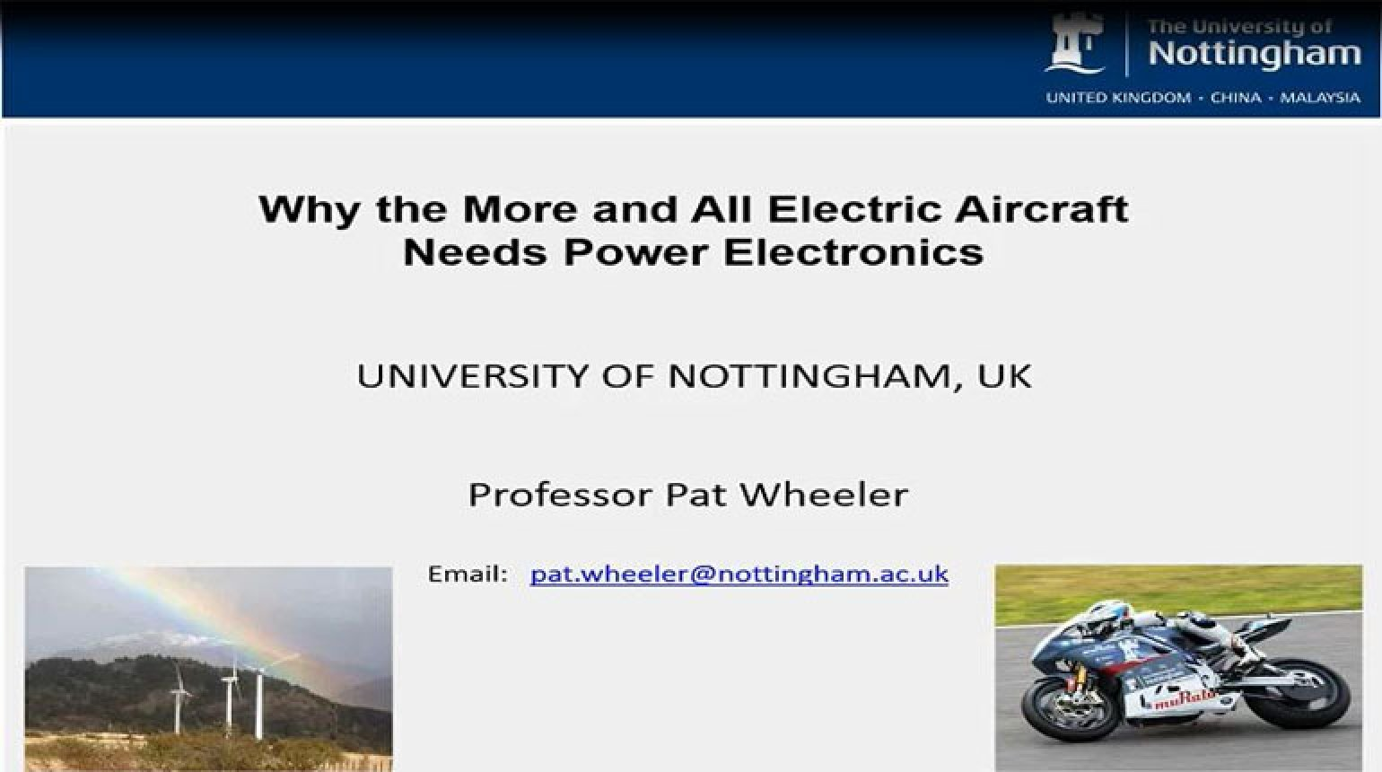 Video - Technology Development from the More Electric Aircraft to All Electric Flight