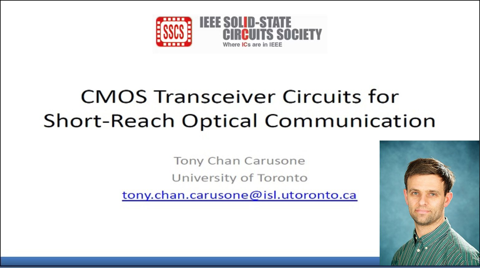 CMOS Transceiver Circuits for Short-Reach Optical Communication Video
