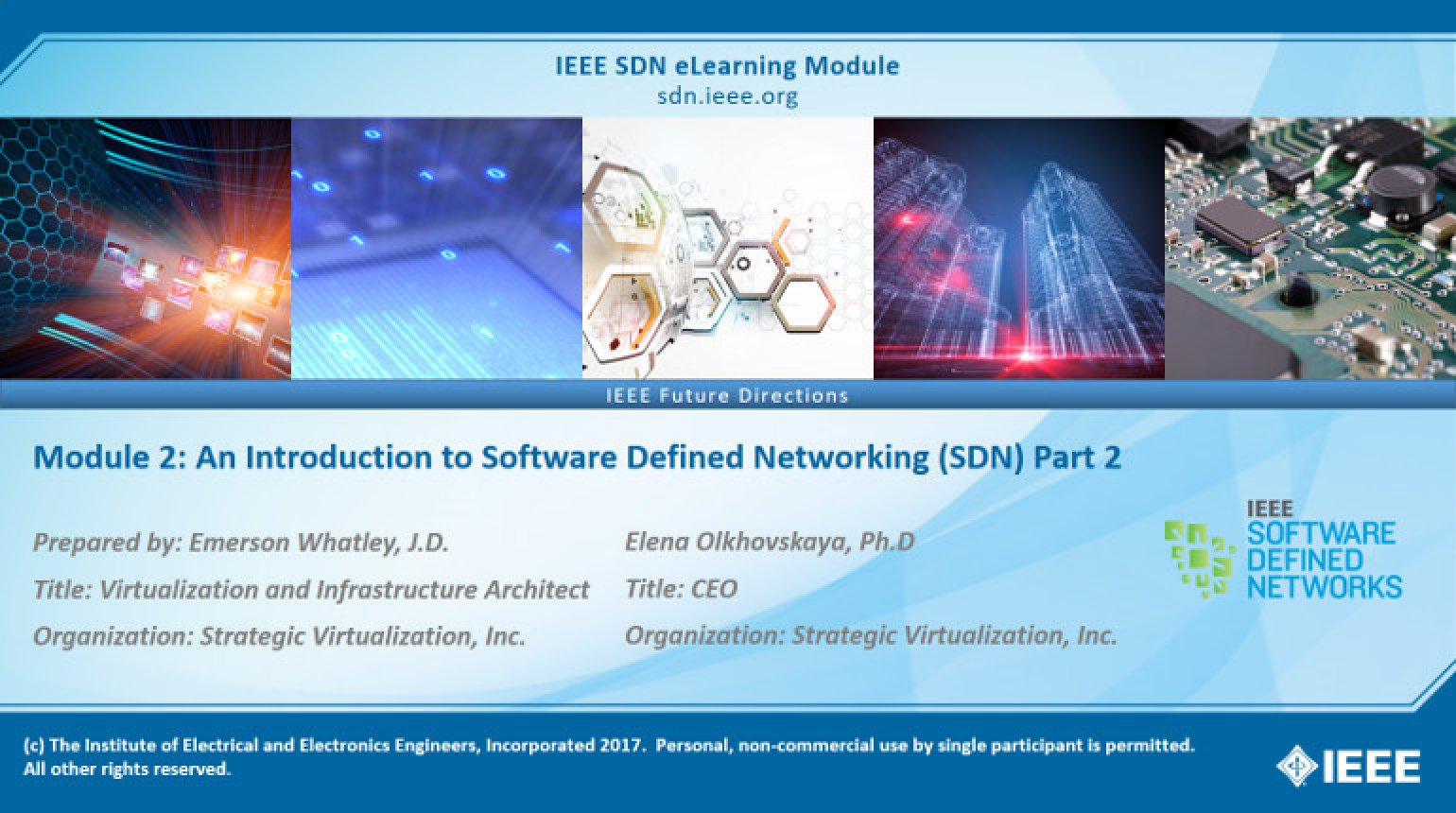 ONOS Module 2: An Introduction to Software Defined Networking (SDN) Part 2