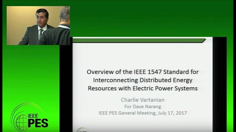 2017 PES GM Tutorial - IEEE 1547 Standard - Part 1