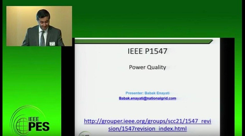 2017 PES GM Tutorial - IEEE 1547 Standard - Part 3