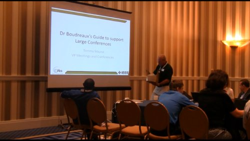 Dr Boudreaux's Guide to support Large Conferences (Video)