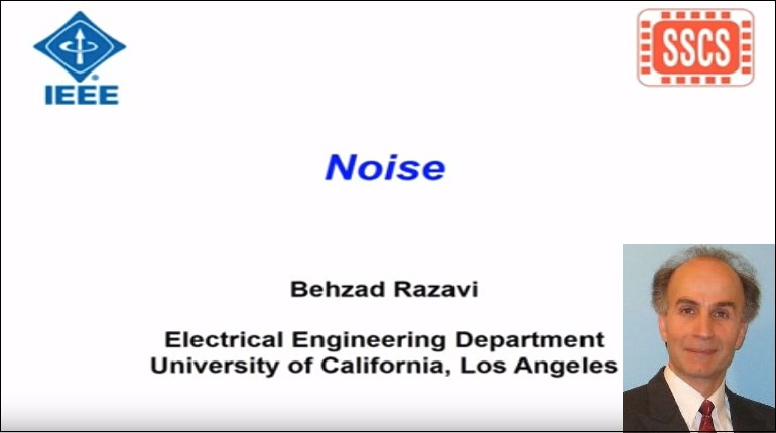 Noise: Lecture 3 - Circuit Noise Analysis and Representation Video
