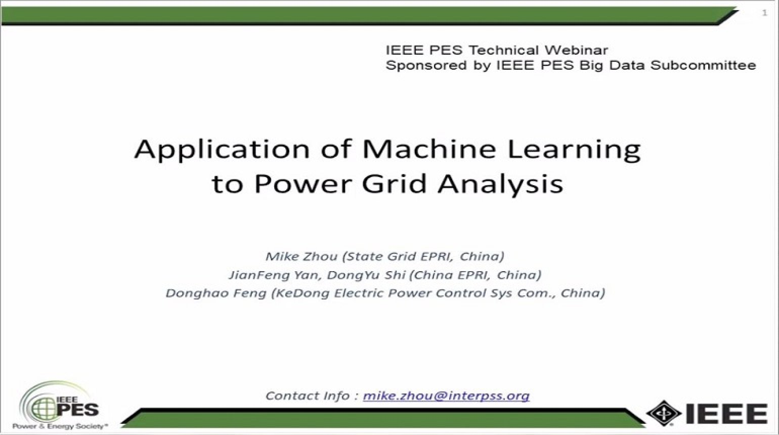 Deep Learning and its Application to Power System Analysis