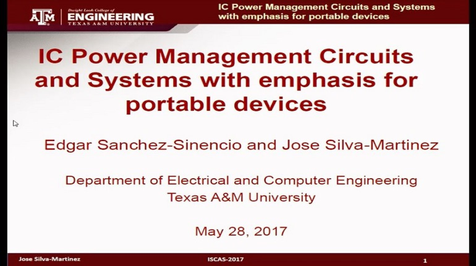 IC Power Management Circuits and Systems with Emphasis for Portable Devices