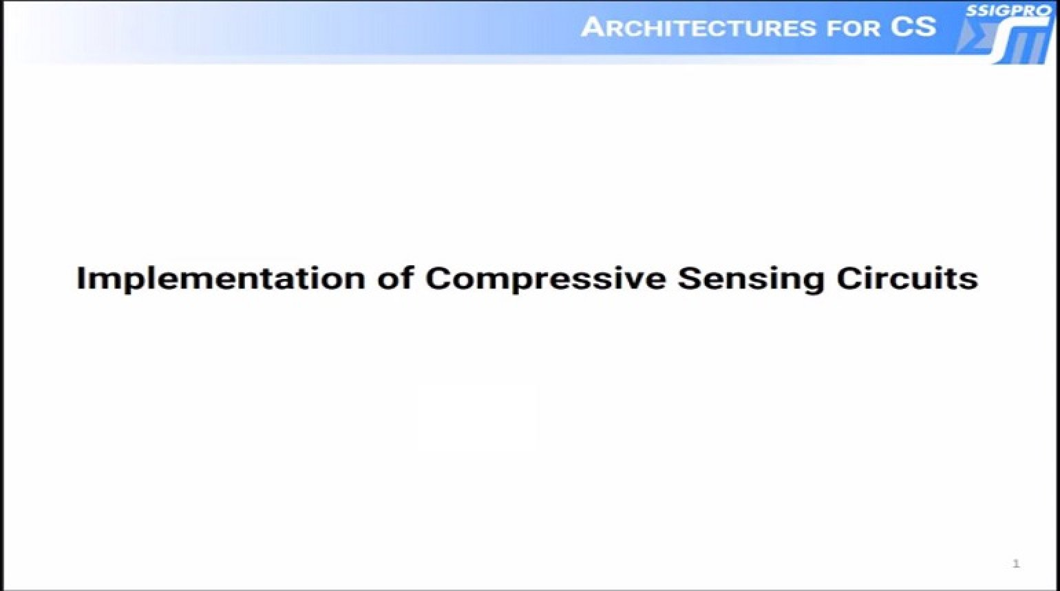 Implementation of Compressive Sensing Circuits