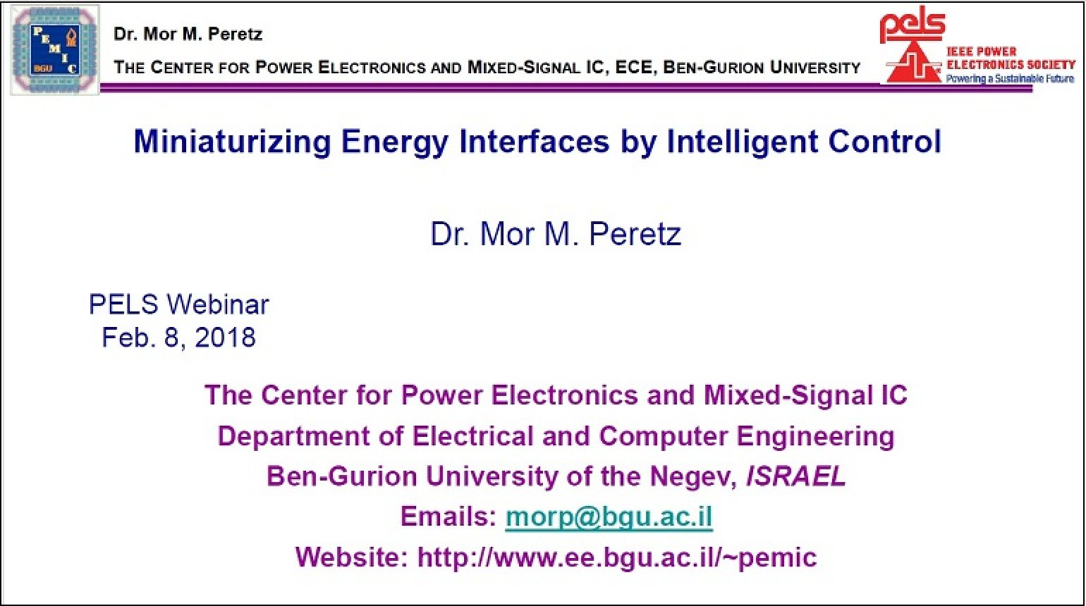 Miniaturizing Energy Interfaces by Intelligent Control Video