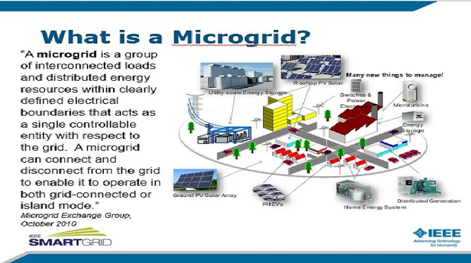 Microgrids: Use Cases and Power Quality Considerations presented by David Mueller