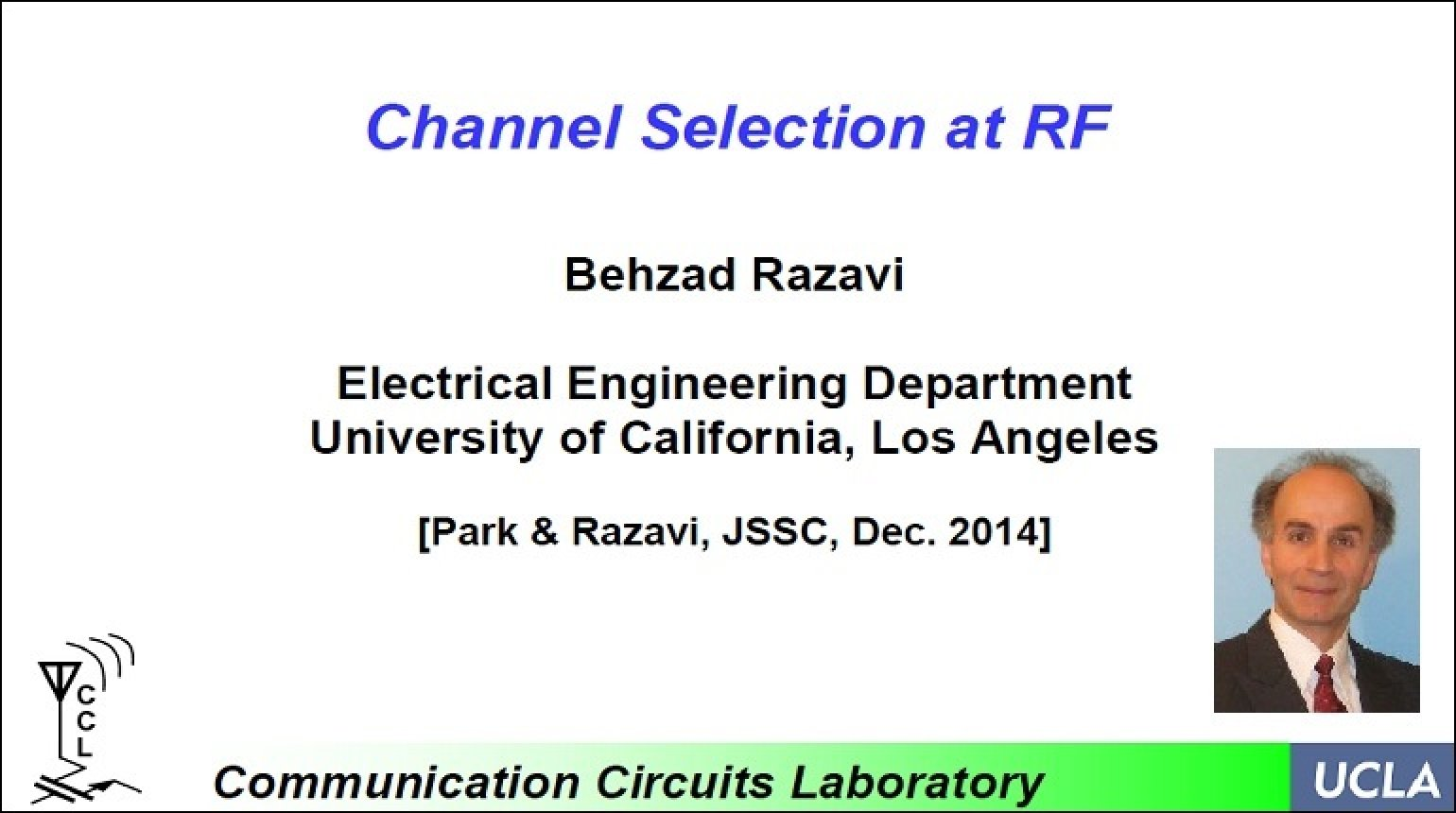 Channel Selection at RF Video