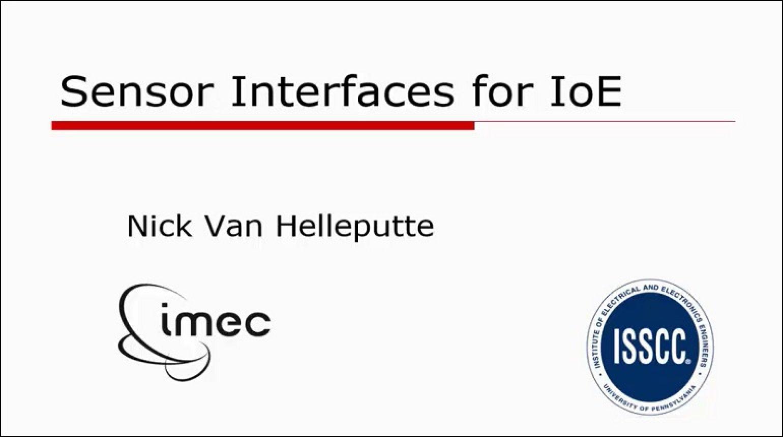 Sensor Interfaces for IoE Video