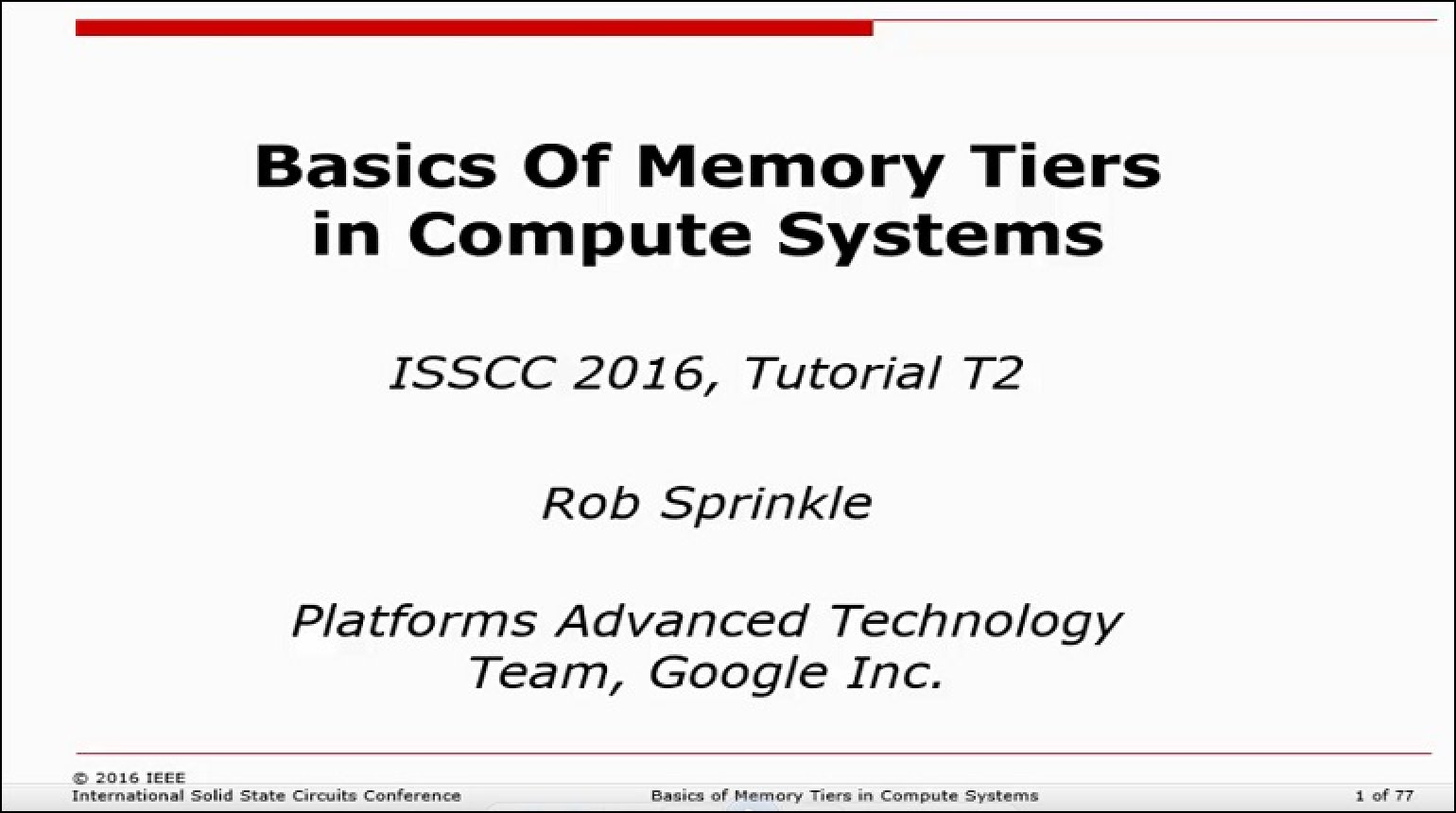 Basics of Memory Tiers in Compute Systems Video