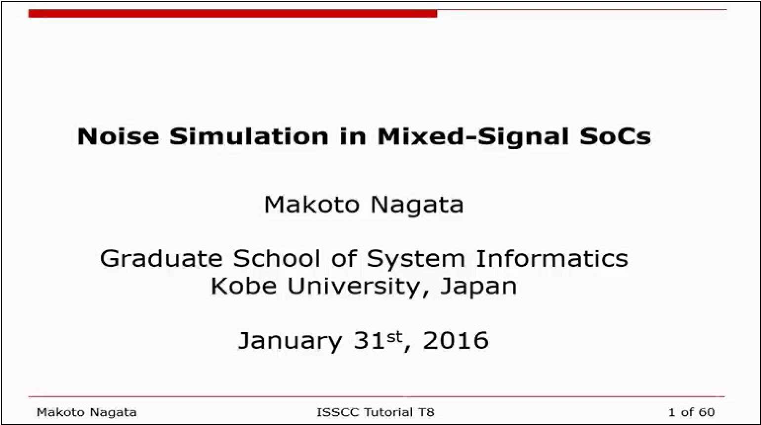 Noise Simulation in Mixed-Signal SoCs Video