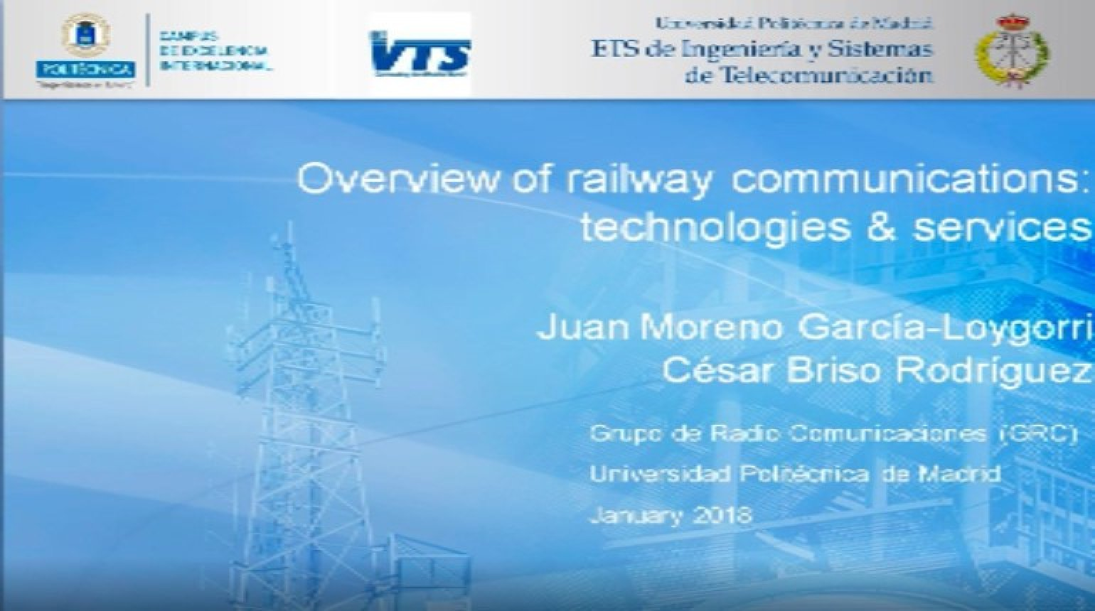 Video - Overview of railway communications: technologies & services