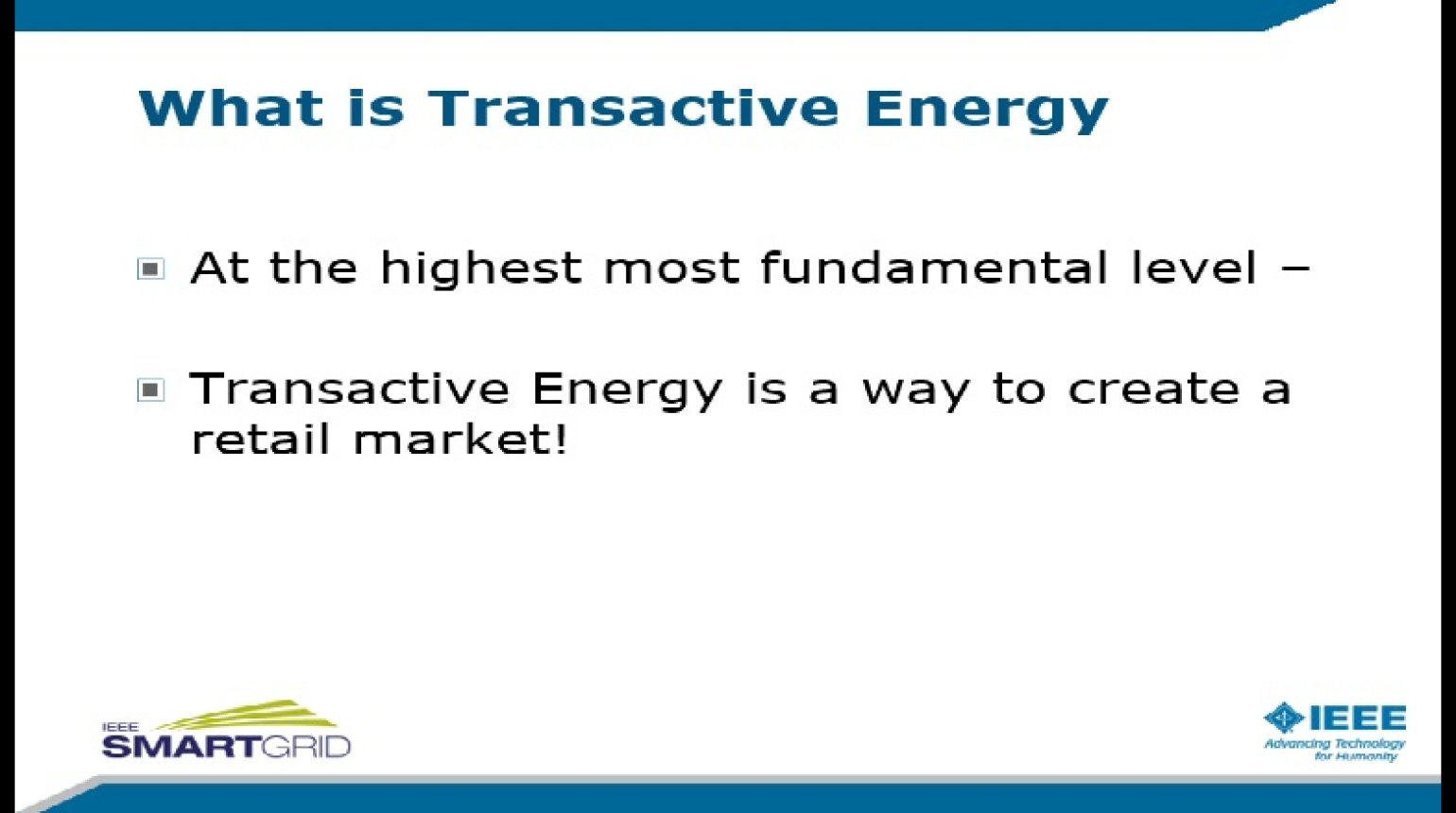 Understanding Emerging Energy Markets and Technology: Session 3 presented by Doug Houseman