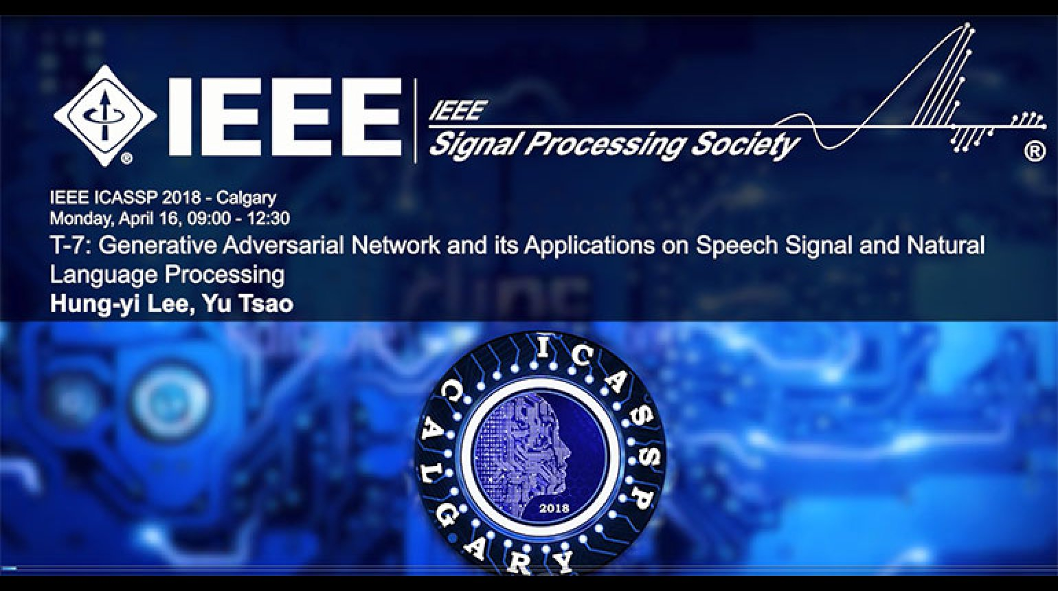 Tutorial 7 - Generative Adversarial Network and its Applications on Speech Signal and Natural Language Processing