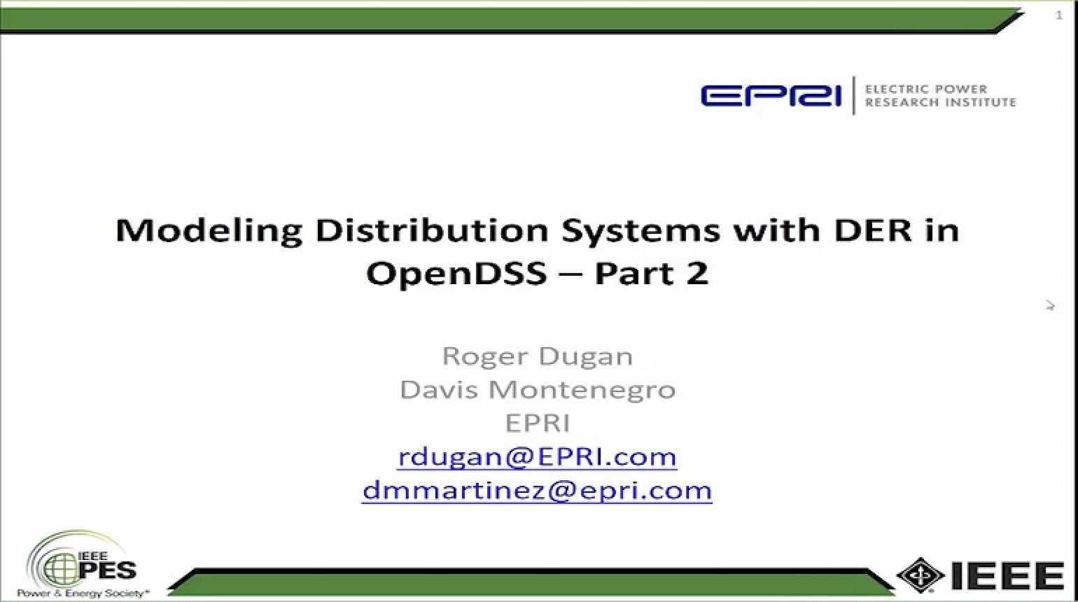 Introduction to OpenDSS Parallel Machine - Parallel Processing with OpenDSS Part 2