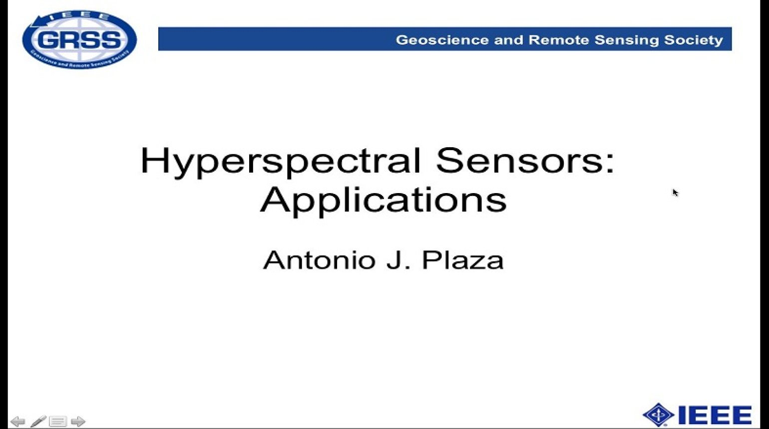 Hyperspectral Sensors: Applications