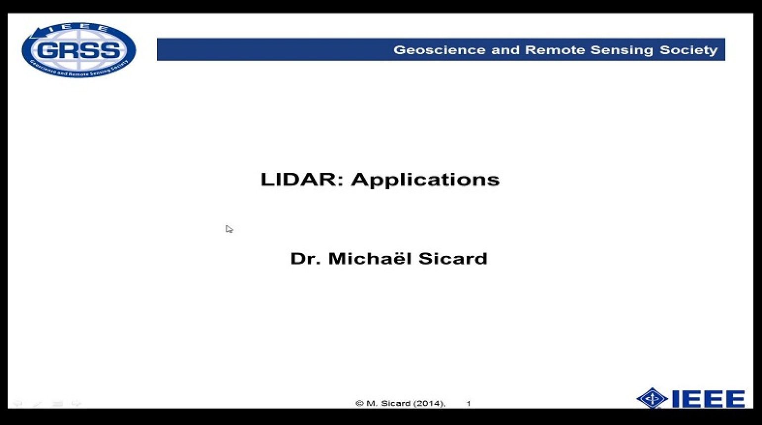LIDAR: Applications