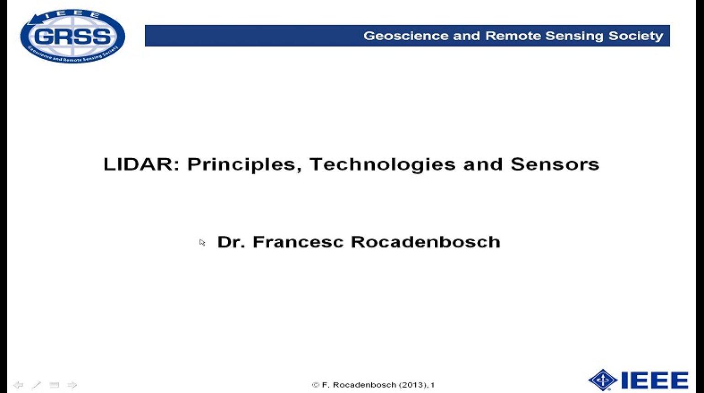 LIDAR: Principles, Technologies, and Sensors