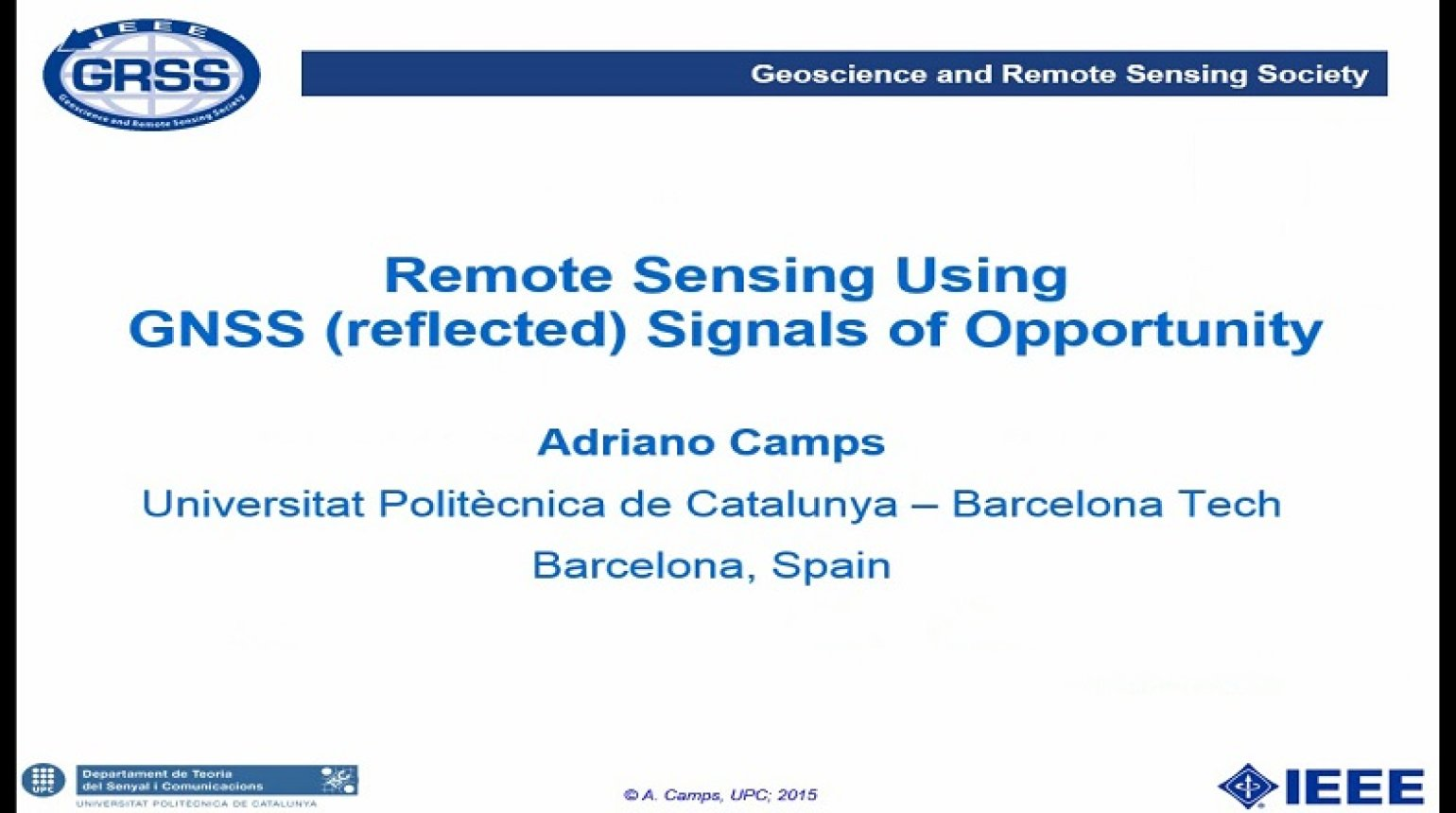 Remote Sensing Using GNSS (reflected) Signals of Opportunity