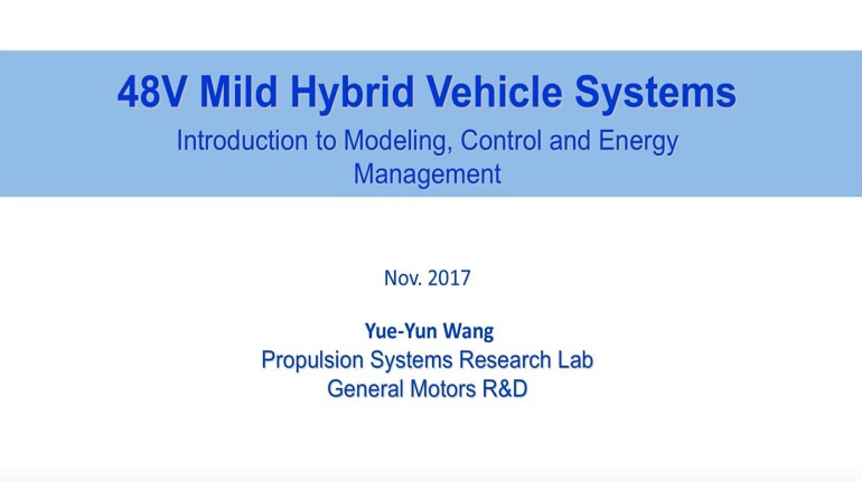 Video - 48V Mild Hybrid Vehicle Systems