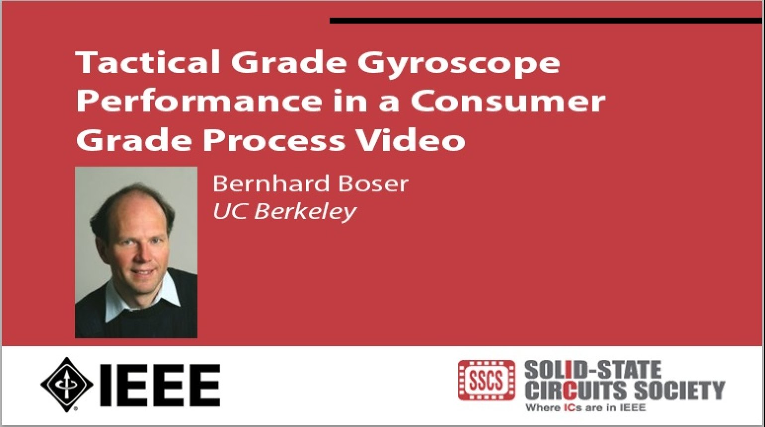 Tactical Grade Gyroscope Performance in a Consumer Grade Process Video
