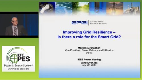 Improving Grid Resilience - Is there a role for the Smart Grid? (Video)