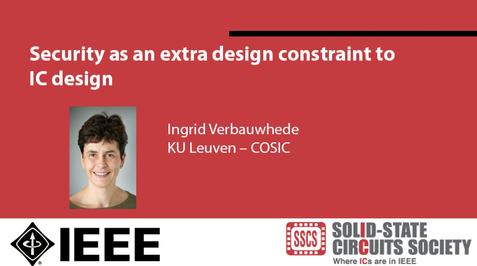 Security as an extra design constraint to IC design Video