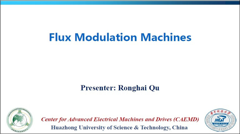 Flux Modulation Machines Video