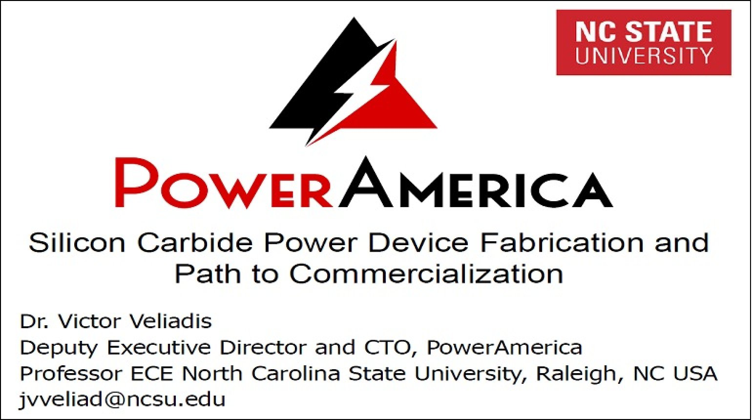 Silicon Carbide Power Device Fabrication and Path to Commercialization Video