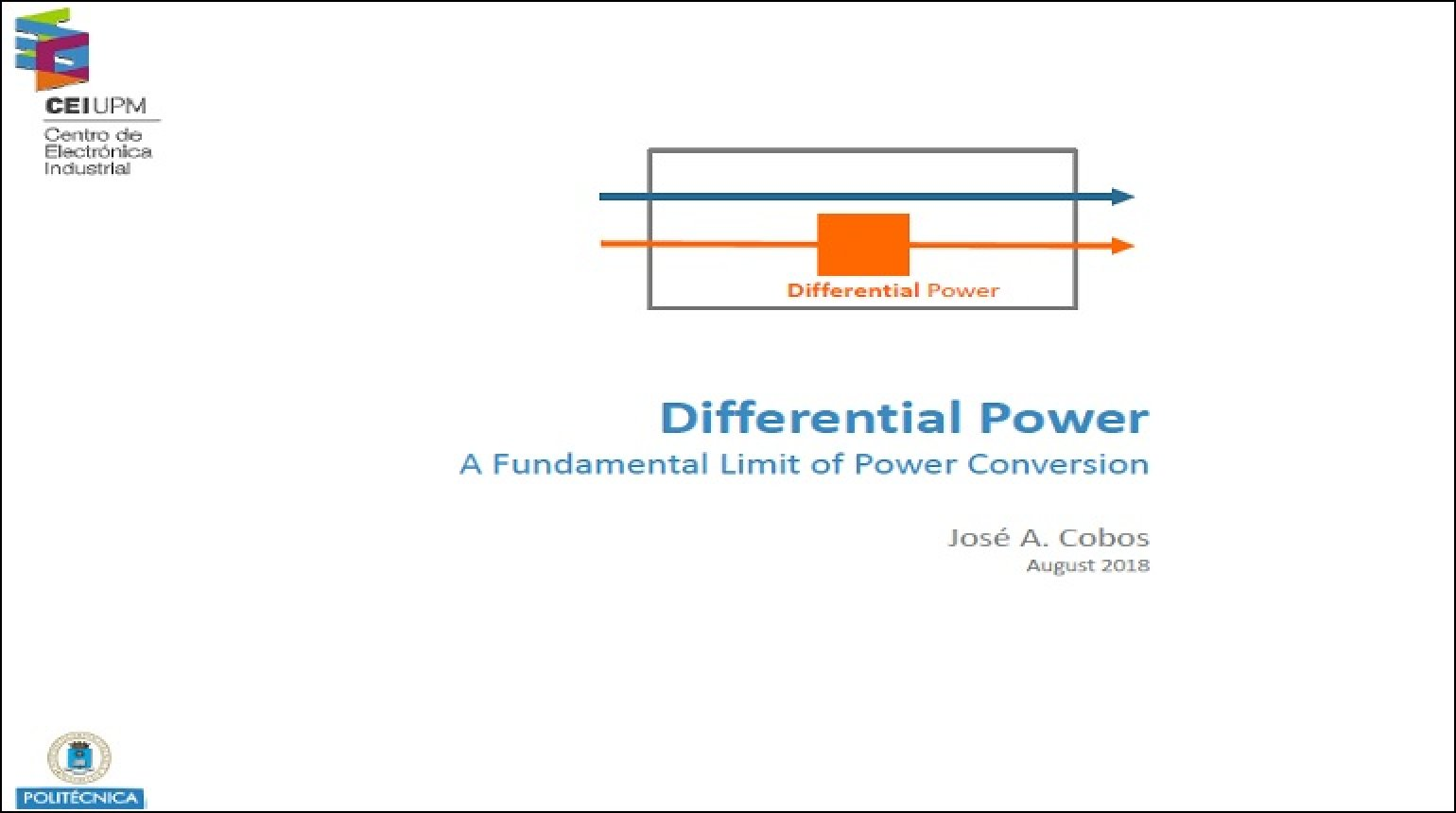 Differential Power: A Fundamental Limit of Power Conversion Video