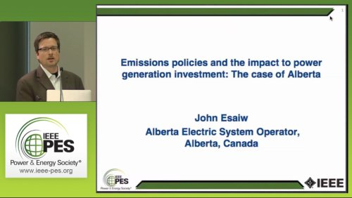 Emissions policies and the impact to power generation investment: The case of Alberta (Video)