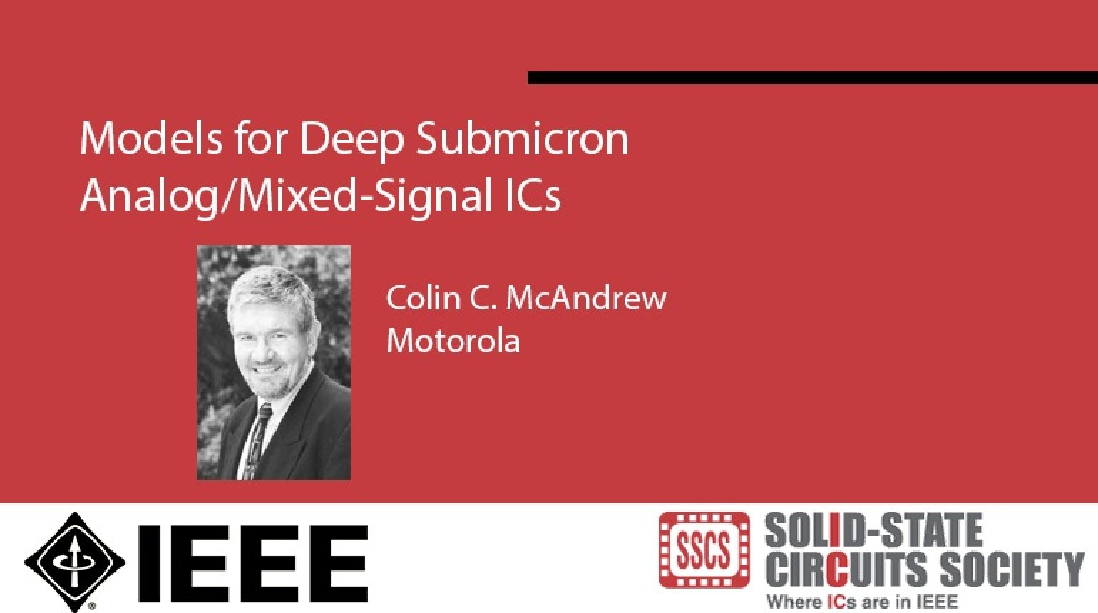 Models for Deep Submicron Analog/Mixed-Signal ICs Video
