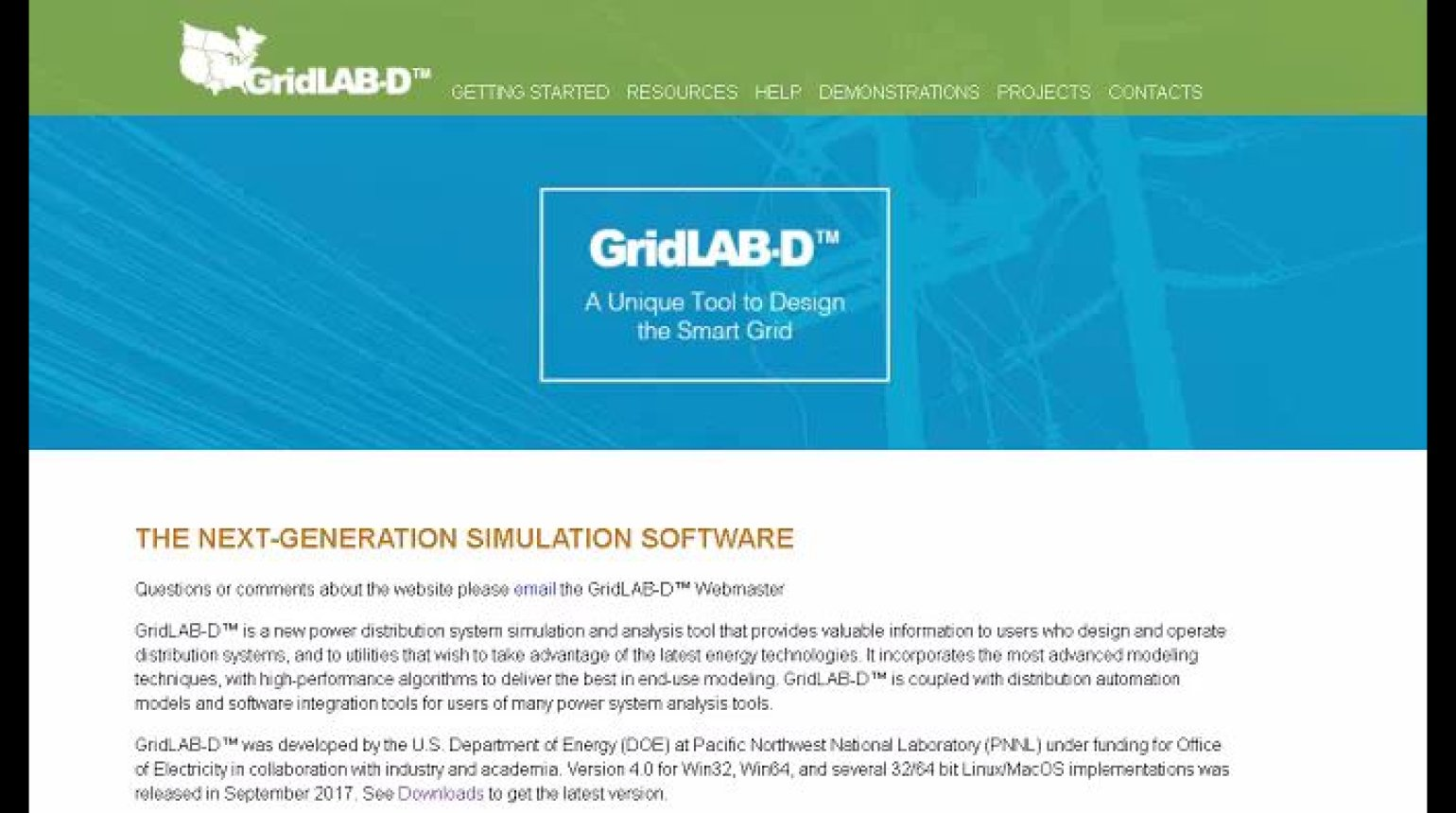 GridLAB-D Applications