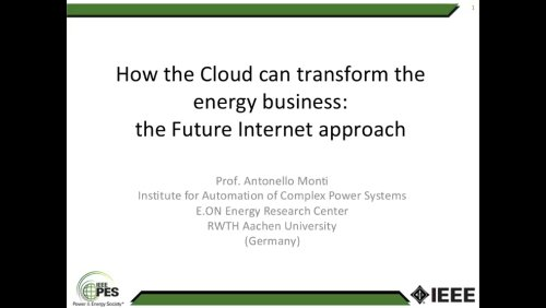 How the Cloud can transform the energy business: the Future Internet Approach (Webinar)