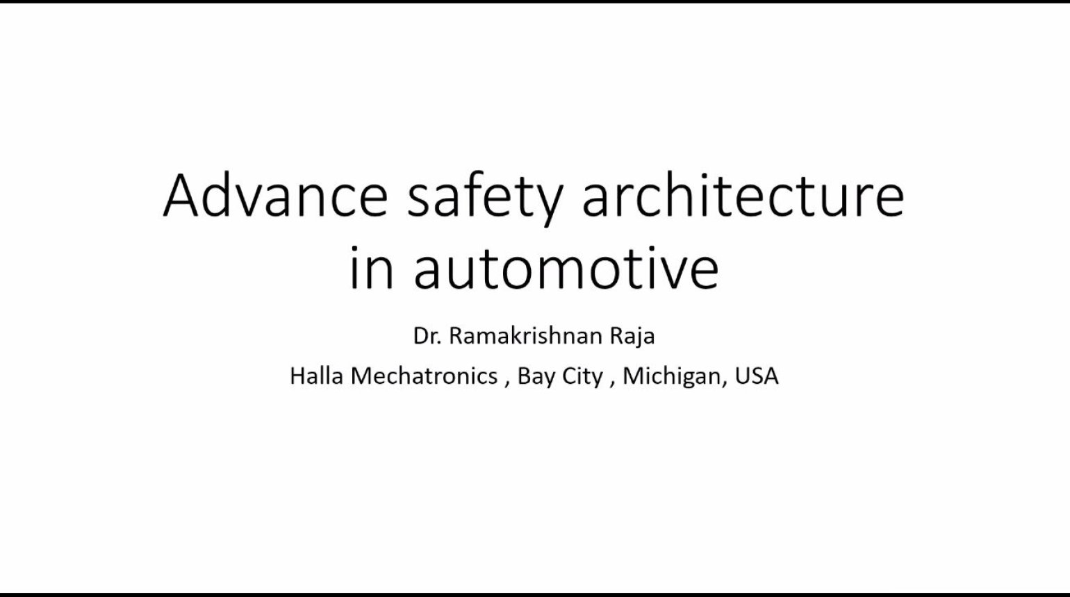 Advanced Safety Architecture for Automotive Systems