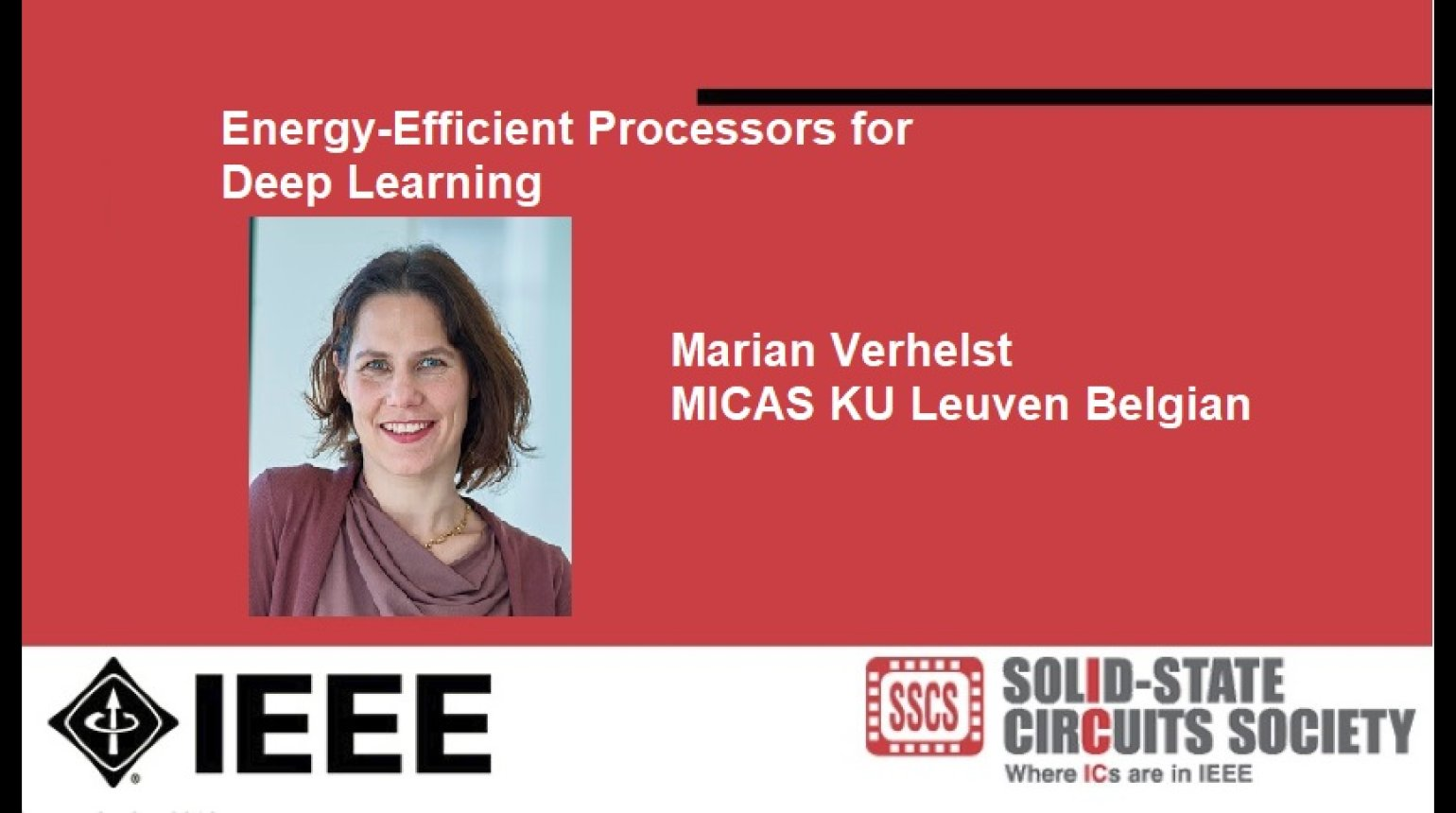 Energy-Efficient Processors for Deep Learning Video