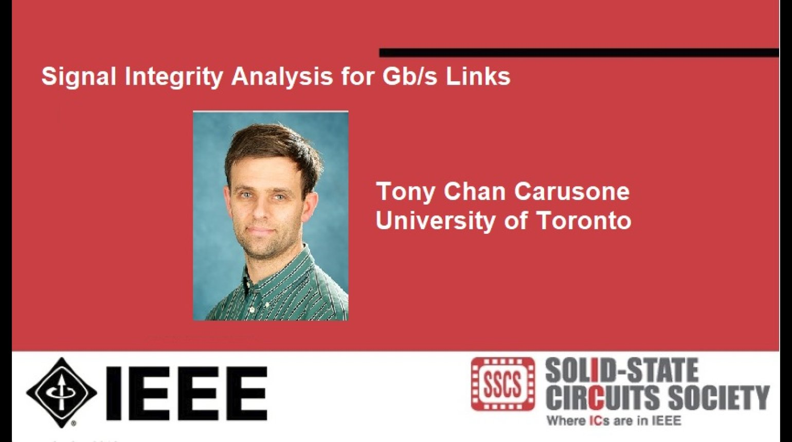 Signal Integrity Analysis for Gbs Links Video