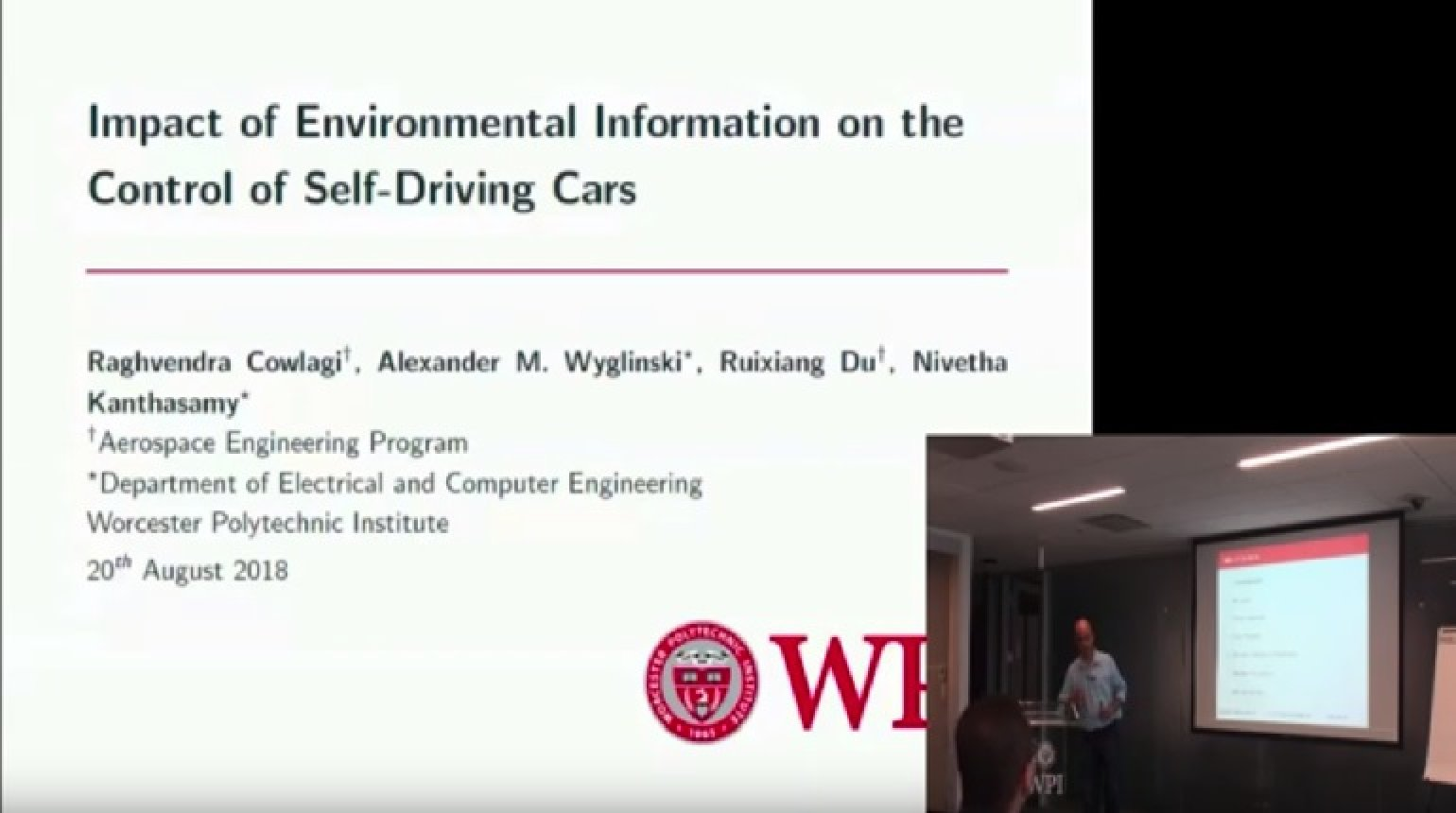 Video - Impact of Environmental Information on the Control of Self-Driving Cars - Gill, Heath
