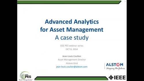 Advanced Analytics for Asset Management - A case study (Webinar)