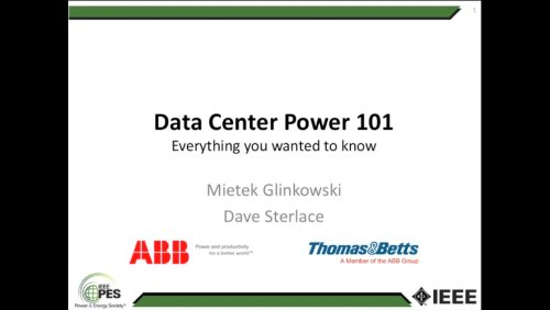 Data Center Power 101 Everything you wanted to know (Webinar)
