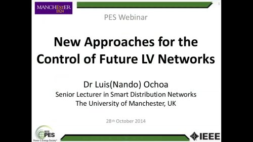 New Approaches for the Control of Future LV Networks (Webinar)
