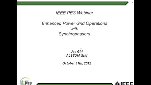 Enhanced Power Grid Operations with Synchrophasors (Webinar)