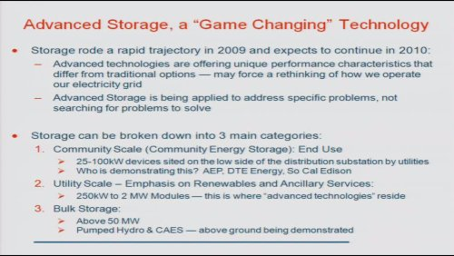Advanced Storage, a