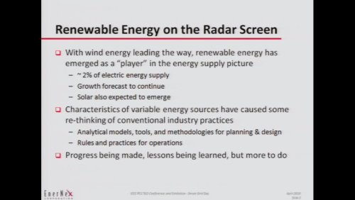 Renewable Energy on the Radar Screen (Video)