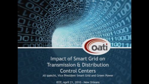 Impact of Smart Grid on Transmission & Distribution Control Centers (Video)