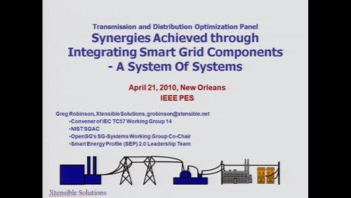 Synergies Achieved through Integrating Smart Grid Components - A System of Systems (Video)